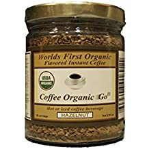Organic Certified Hazelnut Instant Coffee 2.35 oz 48 servings