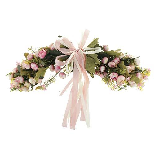 Artificial Silk Foliage Rose Flower Garland Door Lintel Home Wedding Decor