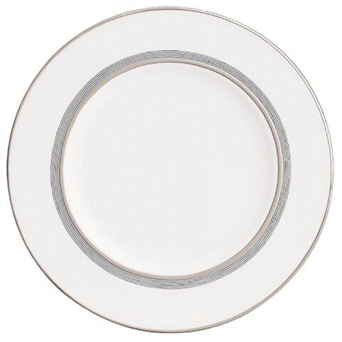 Columbus Lenox Circle China - Lenox Columbus Circle Platinum Banded Bone China 9-Inch Accent Plate