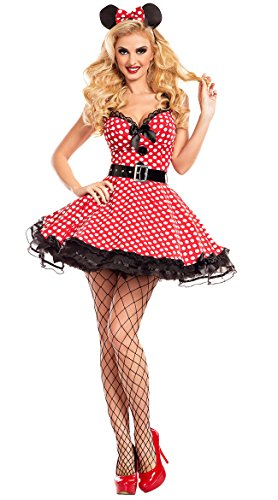 Dapper Day Costumes (Party King Women's Miss Mouse 3 Piece Costume Set (X-Large))