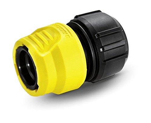 Karcher 2.645-192.0 6.5 x 3.3 x 4.5 cm Universal Hose Connector with Aqua Stop – Yellow/Black