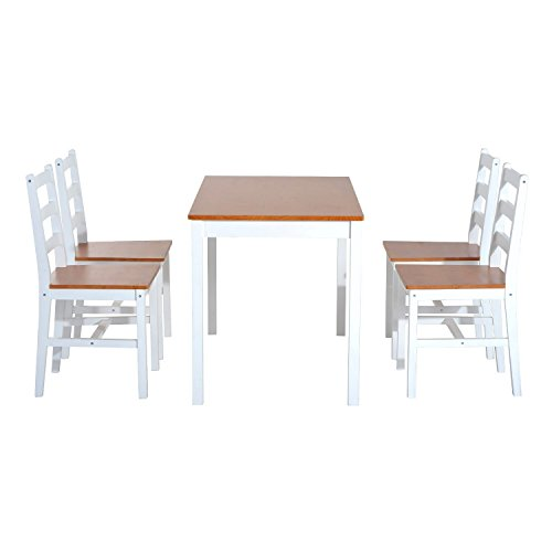 Bench Chairs Kitchen Tables And Chairs Ebay Free Kitchen: White Wooden Kitchen Set Table 4 Seater Chair Comfy