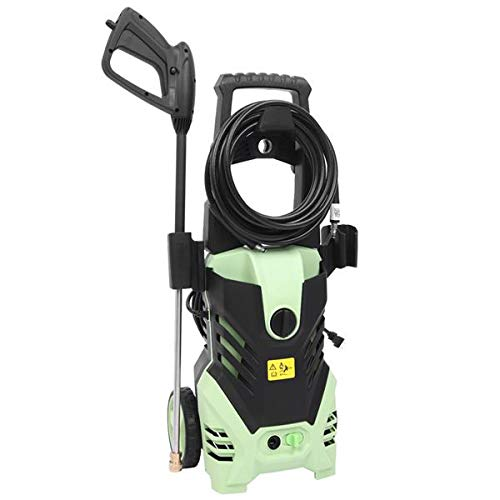 Kouye- Electric Pressure Washer High Power Machine 1800W 3000PSI 1.7GPM Cleaner Machine with Hose Reel and Interchangeable Nozzles, Green Green