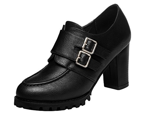 Guciheaven 2015 New Spring New Style Platform Pumps Thick High-Heeled Shoes (8.5 B(M)US, Black)