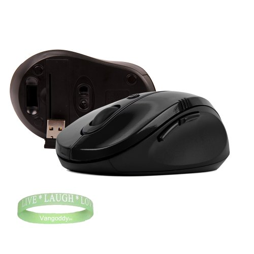 Sony Vaio E Series Accessories Black Gloss Wireless Mouse for your Notebook + LIVE LAUGH LOVE Wrist band