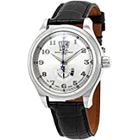 Ball Train Cleveland Automatic Reserve Silver Dial Leather Men's Watch