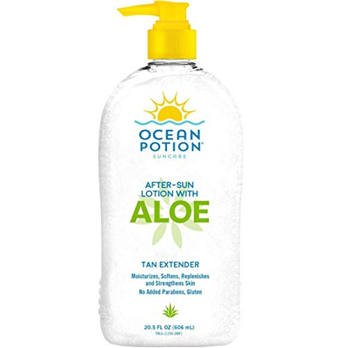 - Ocean Potion After Sun Lotion with Aloe Tan Extender, 20.5 Ounce Bottle, Pack of 1