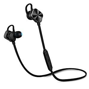 Bluetooth Headphone, Mpow Wolverine v4.1 Wireless Sports Running Stereo Earphones Headset CVC 6.0 with Mic for iPhone 6 6S 6 Plus 5 5S Ipad Ipod Samsung Galaxy Edge Note &All Bluetooth Devices (Black)