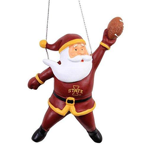 Iowa State 2015 Action Santa Ornament