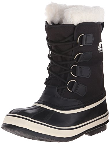 Sorel Women's Winter Carnival Boot,Black/Stone,9 M US (Lace Winter Snow Boots)