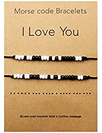 I Love You Morse Code Bracelet Couples Matching Bracelets for Him and Her Boyfriend and Girlfriend Mother and Daughter Set of 2 Bracelets