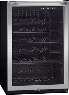 Frigidaire FFWC4222QS 42 Bottle Wine Cooler with Reversible Door Electronic Temperature Display Tinted Windows and Contemporary Handle Design in
