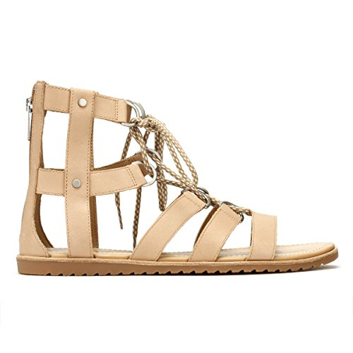 Lace Ella Brown Leather Sorel Womens Sandals Sahara up 220 ERwwUqxg
