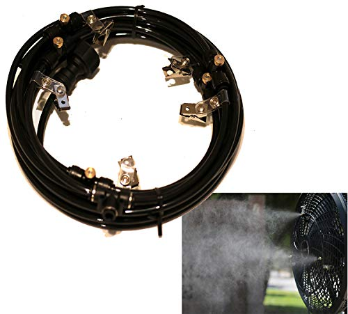 AZCOOLMIST Misting Fan Ring 16' 5 Nozzle Made in USA