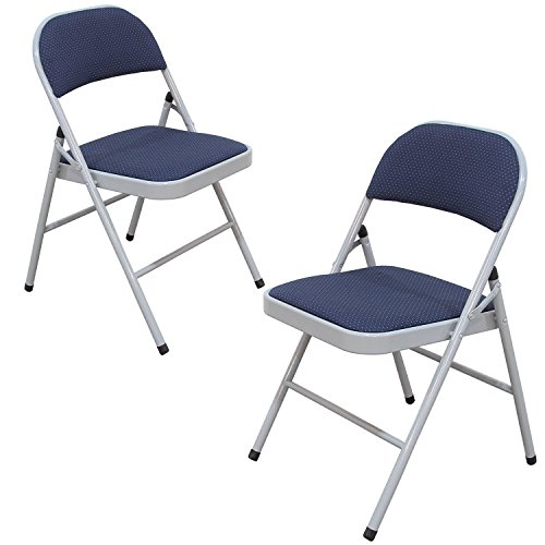 Joveco Cushion Folding Chair, Set of Two