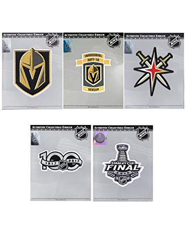 National Emblem Vegas Golden Knights Ultimate Collectors NHL Patch Bundle (5 Patches)