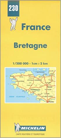 Brittany On Map Of France.Michelin Bretagne Brittany France Map No 230 Michelin Travel