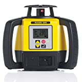 Leica Geosystems R680,RE140, Alkaline Rugby 680 2600-Feet Self Leveling Horizontal, Dual Axis Dial in Grade, Rotary Laser Kit with Rod Eye 140 Receiver, Yellow