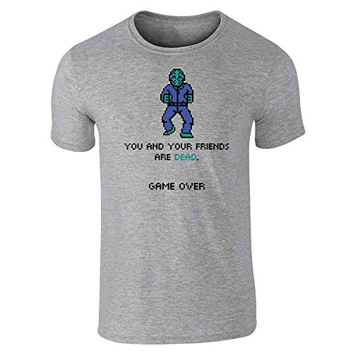 You and Your Friends are Dead Game Over Gaming Gray XL Short Sleeve -