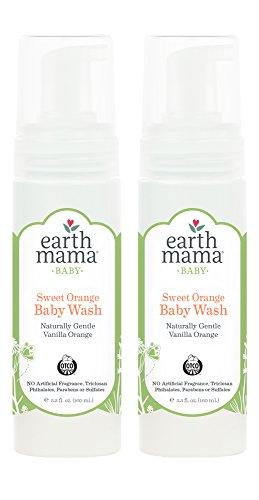 Earth Mama Angel Baby - Shampoo & Body Wash Refill Size 5.3 fl oz (160 ml) (Pack of 2)