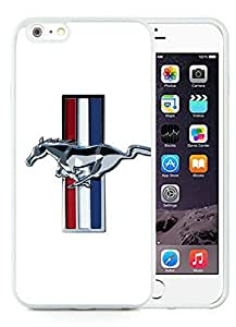 Unique and Grace Case Design with Mustang Shelby Cobra 1 Case for iPhone 6 Plus 5.5 inch TPU in White