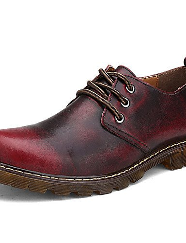 Uk6 10 5 Eu39 2016 5 Cn39 Brown Deporte Njx Patines Comfort Rojo Mujer us9 8 Eu41 Plano Cn42 Red Marrón Cuero De Tacón Oxfords Casual Exterior us8 Zapatos Uk7 pxqd1FxwU