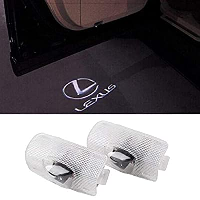 Entry Welcome Lamp Logo Light Ground Lamp Kit Replacement Car Door LED Logo for Lexus Projector Ghost Shadow RX//ES//GX//LS//LX//is 2 Pack Running Board Lights
