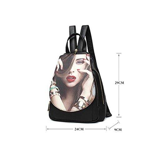 Aoligei Personnalisé impression cent tours femmes  sac de poitrine avec sac d'épaule oblique version féminine du loisir marée Sac à dos Q