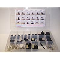 Molex BLACK Connectors, 239 Piece Kit, Stamped Terminals, Pic Tool, 3X to 20X, Wiring Switch, Wire 07-12, OEM, Harley, Auto,