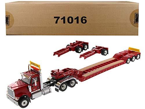 Diecast Masters International HX520 Tandem Tractor Red with XL 120 Lowboy Trailer 1/50 Diecast Model -