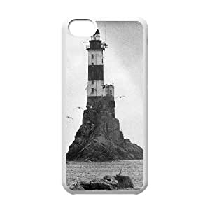 Iphone 5C 2D Personalized Phone Back Case with Beautiful Lighthouse Image