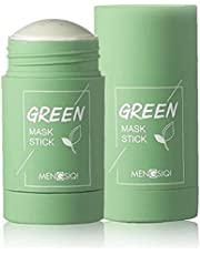 Green Mask Stick Green Clay Purifying Clay Stick Face Cover Deep Cleansing Moisturizing Facial Blackhead Remover Green Tea Face Cover