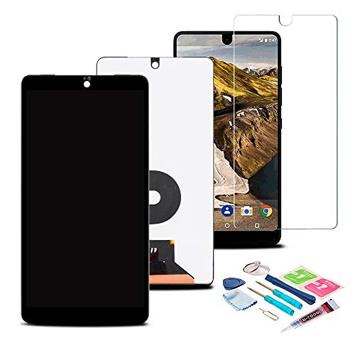 XR MARKET Compatible Essential Phone PH-1 Screen Replacement, LCD Display Touch Screen Digitizer Assembly 5.7'' with Glue, Screen Protector Black