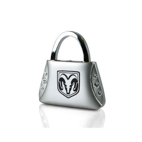 Dodge RAM Logo Clear Crystals Purse Shape Key Chain Au-Tomotive Gold INC
