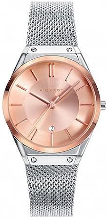 Viceroy Reloj Analógico de Cuarzo para Mujer con Correa de Acero Inoxidable – 42234-97