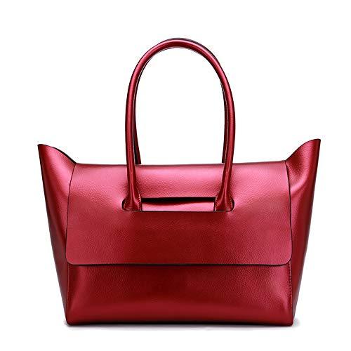 Red Portafogli A Moda Huichao Da Grande Borsa Messenger Retro Tracolla Pelle Lavoro Di Capacità red Donna Vacchetta In Tracolla Cosmetici Per 65ww4q