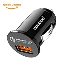 Quick Qualcomm 3.0 Car Charger Nano USB boost adapter Type C port for iPhone X / 8 / 7 / 6s / Plus, iPad Air / mini, Galaxy S8 / S7 / Edge / Plus, Note ? Black