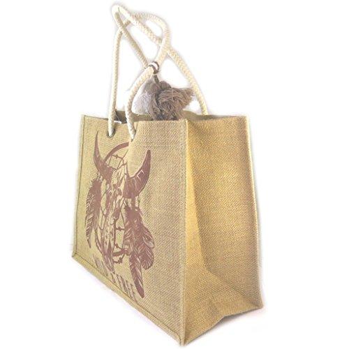 "Les Trésors De Lily [P0385] - Sac shopping ""Boho"" (Wild & Free) - 42. 5x33x18. 5 cm"