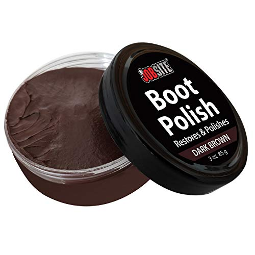 JobSite Premium Leather Boot & Shoe Polish Cream - Restores, Conditions & Polishes - 3 oz