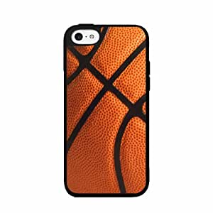 Detailed Basketball - TPU Rubber Silicone Phone Case Back Cover (iPhone 5c)