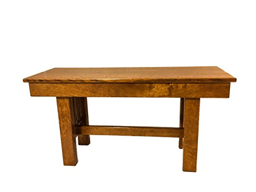 (Amish Entryway Bench, Quarter Sawn White Oak, Mission Style, 3 ft.)
