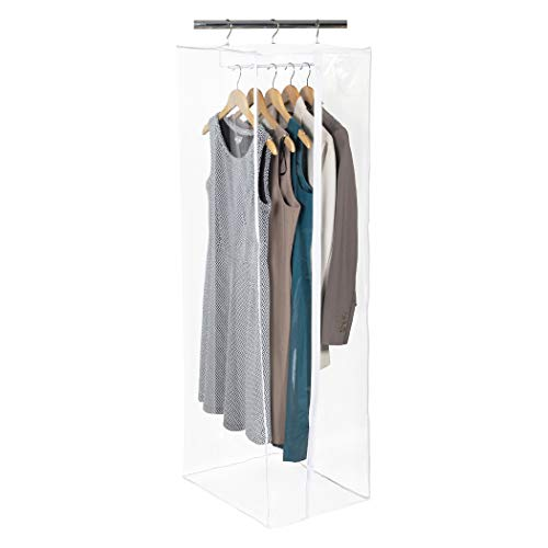 Richards Homewares Clearly Organized Dress Bag Clear Vinyl Storage Maxi Rack Suit Garment Cover 15