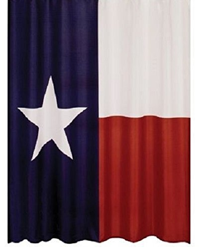 Texas Lone Star State Flag Polyester Bathroom Shower Curtain with Hooks (New Polyester Flag)