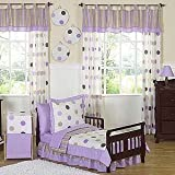 Sweet Jojo Designs Purple Polka Dot Fabric
