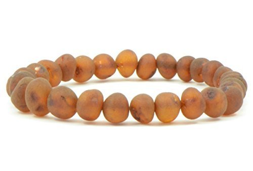 Raw Amber Bracelet for Adults Made on Elastic Band - 7 Inche