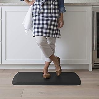 "GelPro Anti Fatigue Ergonomic Gel & Foam Floor Standing Comfort-Non Slip Cushioned Kitchen Mat or Standup Desk Pad, 20 x 32 x 5/8"", Basketweave Black"
