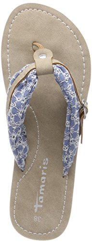 Sky Black 821 32 Blue WoMen Tamaris Black Mules 27109 Flower wSCU0