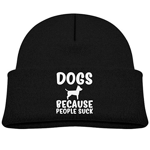 (Qiop Nee Dogs Because People Suck Beanie Cap Knit Hat Baby Girls)