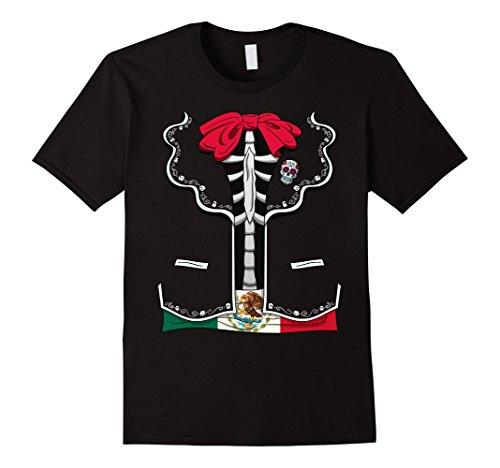 [Mens Day Of The Dead Halloween Costume Dia de los Muertos T-Shirt 2XL Black] (Dia De Los Muertos Family Costumes)