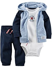 Carter's Baby Boys' 3 Piece Cardigan Set Super Cute Division Preemie